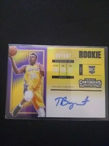 2017-18 Panini Contenders Thomas Bryant Gold Rookie Ticket Auto RC 2/10