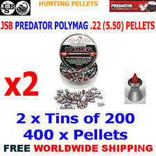 JSB PREDATOR POLYMAG .22 5.50mm Airgun Pellets 2(tins)x200pcs (HUNTING PELLETS)