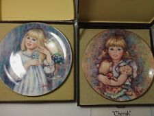 Wedgwood Bone China 2 Mary Vickers Collectors Edition Plates Made in England