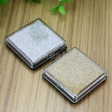 2pcs DIY Cube Mini Ink Pad Inkpad Wood Fabric Paper Rubber Stamp Scrapbook Craft