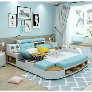 European Quality Smart Multifunction Modern Massage Bed Genuine Italian Leather