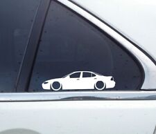 2X Lowered car stickers - for Pontiac Grand Prix (1997-2002) 6th gen | stanced