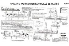 Berna Decals 1/48 FOUGA CM 170 MAGISTER PATROUILLE DE FRANCE Demonstration Team