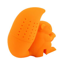 Tea Strainer Silicone Cute Squirrel Loose-leaf Tea Infuser Filter Diffuser Fun