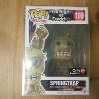 Funko Pop Springtrap 110 Five Nights At Freddys Only At Gamestop Vinyl Figure