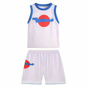 Kid Space Jam 2 Lola Bunny Cospaly Costume Basketball Jersey T-shirt Shorts Gift