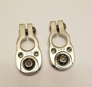 Battery Terminals Top Mount Satin Silver Finish
