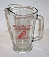 "VINTAGE MEIER BREWERY RED BUD IL ILLINOIS ESTABLISED 1955 9 "" TALL BEER PITCHER"