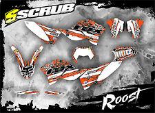 SCRUB KTM EXC 125 250 300 450 530 2008-2011 Grafik Dekor-Set