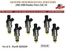Remanufactured 6X Fuel Injectors OEM BOSCH for 1985-1988 Pontiac Fiero 2.8L V6