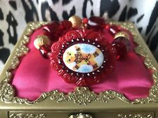 Tarina Tarantino Vintage Gingerbread Man Cookie Christmas Holiday Cameo Bracelet