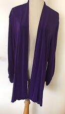 TRAVELERS by CHICO'S Women's Purple Open Cardigan Zippers on Sleeves Sz 3 (XL)