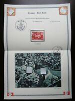 Germany Nazi 1941 Stamp used Benito Mussolini Adolf Hitler Swastika Eagle WWII T