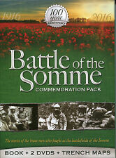 BATTLE OF THE SOMME COMMEMORATION PACK 100 YEAR ANNIVERSARY BOOKDVDS TRENCH MAPS