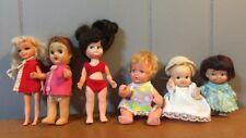 Vintage Pee Wee Uneeda Japan Lot Of 6 Dolls