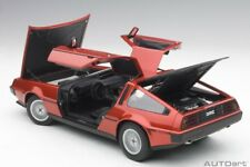 Autoart DELOREAN DMC-12 METALLIC RED 1981 Composite model in 1/18 Scale New!