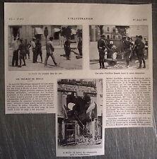 Document photo Troubles de Séville bombardement maison communiste 1931