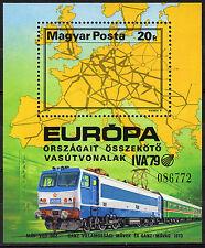 HUNGARY MAGYAR 1979 Int.Transportation Exhibition - Railroad Souvenir Sheet MNH