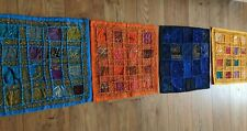 REDUCED!! 4 Rajasthani Indian Wall Hanging Embroidery Patchwork Cushion Covers