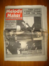 MELODY MAKER 1979 OCT 27 THIN LIZZY CHEAP TRICK 2 TONE