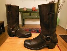 Pre-owned FRYE Women's Brown Leather Harness Boots #77300  8M  USA!    XLNT