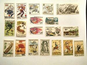 Lot of Czechoslovakia Stamps Cancelled Olympics History Animals & More