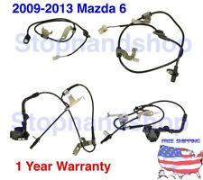 NEW ABS WHEEL SPEED SENSOR FITs 2009 - 2013 Mazda 6 Front Rear Set