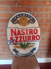 Vintage Peroni Nastro Azzuro Beer Pub Sign From Italy
