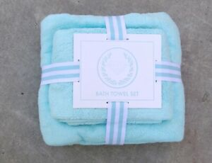 New Diamond Supply Co. Two Piece Bath Green Teal Towel Set RBCK-240