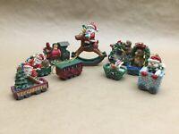 Lot of 9 Vintage Collectible Christmas Santa & Snowmen Ornaments