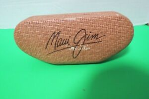 """Maui Jim Hard Clamshell Sunglass Case W/Cleaning Cloth Bamboo Pattern2 1/4""""T"""