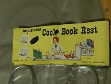 Adjustable COOK BOOK REST (Culinary Lectern) Vtg Retro *NEW_NIP*