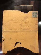 Rare Stonewall Jackson Brigade Double Used Confederate Envelope