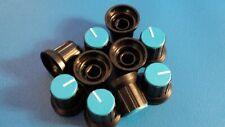 PUSH ON CONTROL BLUE SWITCH KNOB   6.mm   QTY  = 10