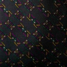 Gray Purple Foulard DIOR Silk Tie