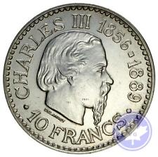 Monaco-1966-10 francs argent-SUP-37mm-25gr-Charles III