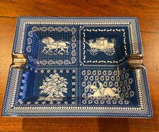 HERMES Porcelain Change Tray Ashtray Plate Ecuries Parisiennes Ornament Auth New