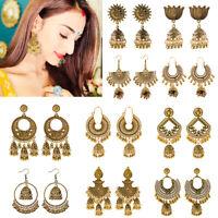 Indian 22K Gold Plated Earrings Jhumka Drop Dangle Bollywood Women Stud Earrings