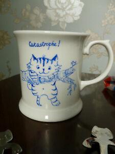 Beautiful Handpainted china cat mug and spoons.