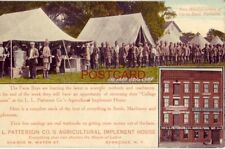 Headquarters of Up-to-date Farmers L L Patterson'S Agricultural Implement House