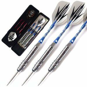 CUESOUL 19/20/22 g Steel Tip Darts Brass Barrels Darts Set  with Dart Case