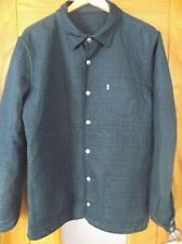 Quality Mens LEVIS Blue Reversible Quilted Worker Jacket Coat . Large / XL.