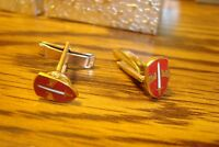"ARMY U.S. Military Assistance Command "" VIETNAM "" Hamilton Gold Cufflinks"