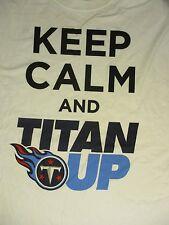 XL white KEEP CALM AND TITAN UP NISSAN STADIUM NFL FOOTBALL t-shirt by FOTL