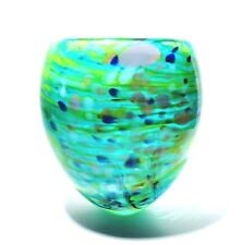 PETER LAYTON British Studio Art Glass vase Signed 13cm tall