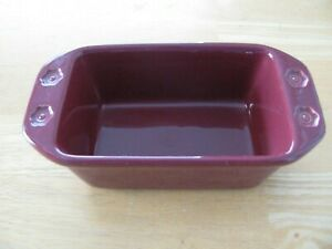 Chantal Classic Loaf Pan Dark Red 2.5 cup Bake Freeze Serve Stoneware