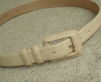 Vintage WCM New York Leather Belt CREAM Size Small ITALIAN CALF SKIN Ladies USA