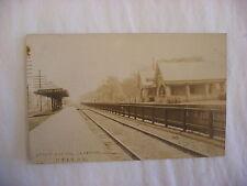 Real Photo Postcard RPPC C B & Q Railroad Depot La Grange Illinois IL 1911 #1301