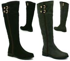 Kniehohe Damen-Stiefel aus Wildleder für Business-Anlässe