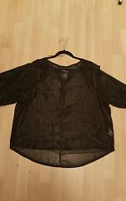 LADIES BLACK SHORT SLEEVED BLOUSE TOP SIZE 20 SMART OFFICE EVENING BNWT